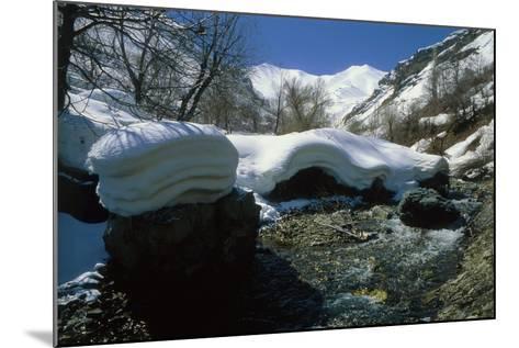 Melting Snow at the End of Winter in the Alborz Mountains Near Tehran, Iran-Babak Tafreshi-Mounted Photographic Print