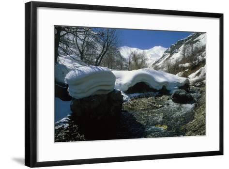 Melting Snow at the End of Winter in the Alborz Mountains Near Tehran, Iran-Babak Tafreshi-Framed Art Print