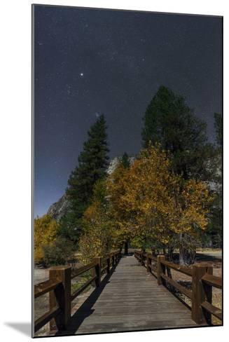 Planet Jupiter, in Constellation Taurus, Above a Footbridge over the Merced River-Babak Tafreshi-Mounted Photographic Print