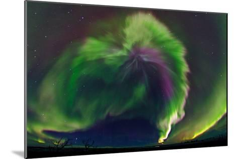 The Northrn Lights. Panoramic Projection of a Colorful Strong Aurora Outburst-Babak Tafreshi-Mounted Photographic Print