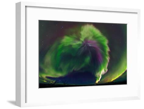 The Northrn Lights. Panoramic Projection of a Colorful Strong Aurora Outburst-Babak Tafreshi-Framed Art Print