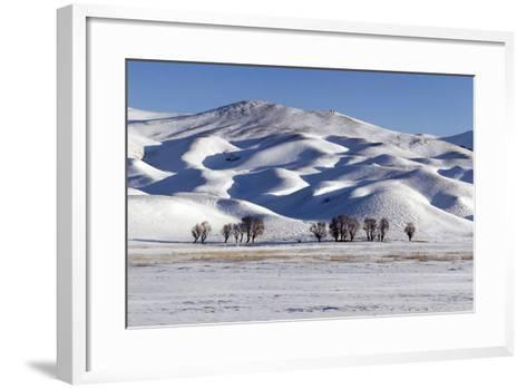 A Snow-Covered Winter Landscape in the Alborz Mountains of Iran-Babak Tafreshi-Framed Art Print