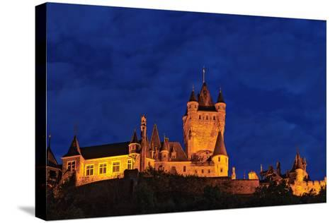 Exterior of the Imperial Castle of Cochem at Night-Babak Tafreshi-Stretched Canvas Print