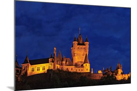 Exterior of the Imperial Castle of Cochem at Night-Babak Tafreshi-Mounted Photographic Print