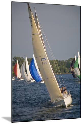 A Sailboat Race in Toronto Harbour Area-Tim Thompson-Mounted Photographic Print