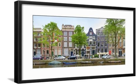 Houses on the Brouwersgracht, Amsterdam, North Holland, Netherlands--Framed Art Print