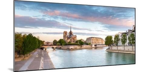 Notre Dame Cathedral on the Banks of the Seine River at Sunrise, Paris, Ile-De-France, France--Mounted Photographic Print