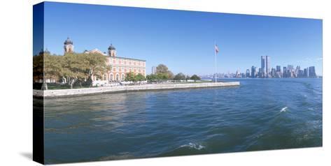 Ellis Island, Manhattan Skyline, New York--Stretched Canvas Print