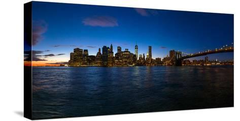 View of Skyline from Brooklyn, Manhattan, New York City, New York State, Usa 2014--Stretched Canvas Print