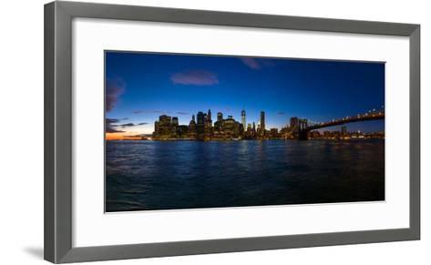View of Skyline from Brooklyn, Manhattan, New York City, New York State, Usa 2014--Framed Art Print