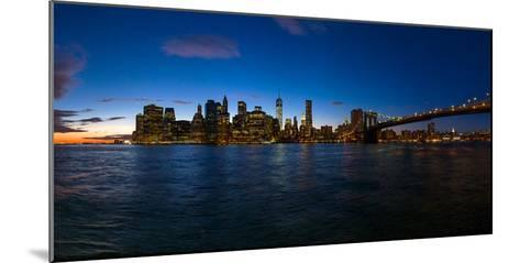 View of Skyline from Brooklyn, Manhattan, New York City, New York State, Usa 2014--Mounted Photographic Print