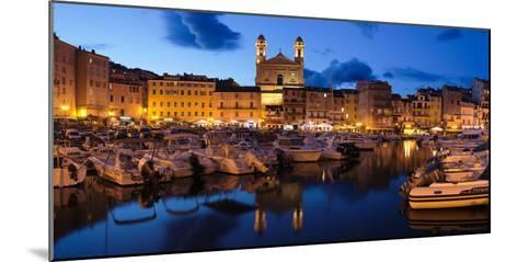 Old Town with Old Harbor and Eglise Saint-Jean-Baptiste De Bastia--Mounted Photographic Print