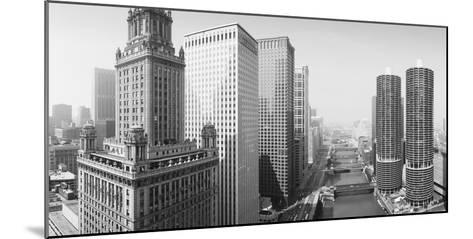 This Is a View Looking over the Chicago River. the Marina Tower Apartments--Mounted Photographic Print