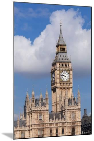 Low Angle View of Big Ben and Houses of Parliament, City of Westminster, London, England--Mounted Photographic Print
