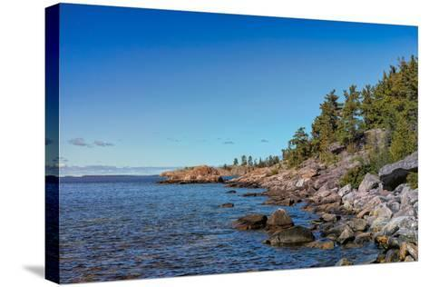 Rugged North Shore of Lake Superior, Ontario, Canada--Stretched Canvas Print