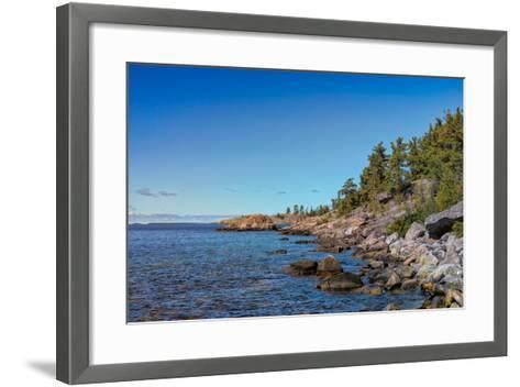 Rugged North Shore of Lake Superior, Ontario, Canada--Framed Art Print