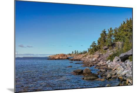 Rugged North Shore of Lake Superior, Ontario, Canada--Mounted Photographic Print