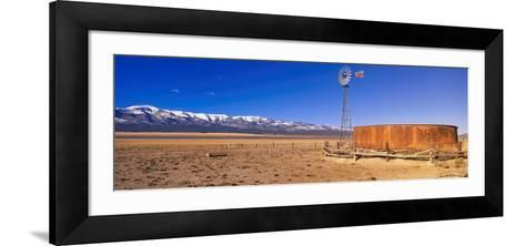 This Is an Old Wooden Windmill in an Open Field in the Old West--Framed Art Print