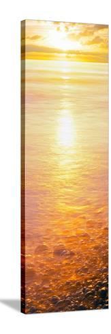 View of Ocean During Sunset, Calumet Park Beach, La Jolla, San Diego, California, Usa--Stretched Canvas Print
