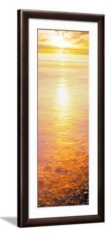 View of Ocean During Sunset, Calumet Park Beach, La Jolla, San Diego, California, Usa--Framed Art Print