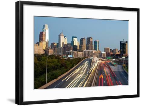 Skyscrapers in a City at Dusk, Philadelphia, Pennsylvania, Usa--Framed Art Print