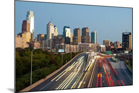 Skyscrapers in a City at Dusk, Philadelphia, Pennsylvania, Usa--Mounted Photographic Print
