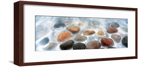 High Angle View of Stones in Ocean, Calumet Park Beach, La Jolla, San Diego, California, Usa--Framed Art Print