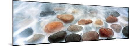 High Angle View of Stones in Ocean, Calumet Park Beach, La Jolla, San Diego, California, Usa--Mounted Photographic Print