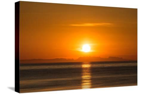 Sunset over Faxafloi Bay, Reykjavik, Iceland--Stretched Canvas Print