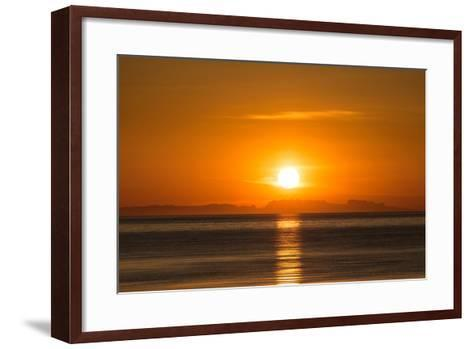 Sunset over Faxafloi Bay, Reykjavik, Iceland--Framed Art Print