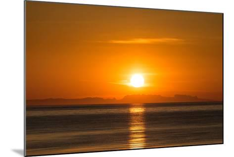 Sunset over Faxafloi Bay, Reykjavik, Iceland--Mounted Photographic Print