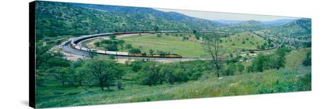 The Tehachapi Train Loop Near Tehachapi California--Stretched Canvas Print