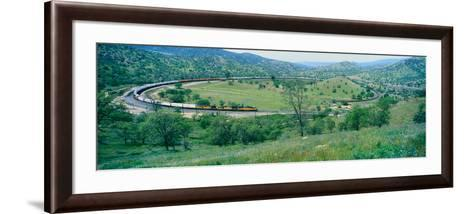 The Tehachapi Train Loop Near Tehachapi California--Framed Art Print