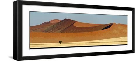 View of Red Dunes, Sossusvlei, Namib Desert, Namib-Naukluft National Park, Namibia--Framed Art Print