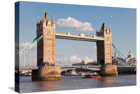 Tower Bridge, Thames River, London, England--Stretched Canvas Print