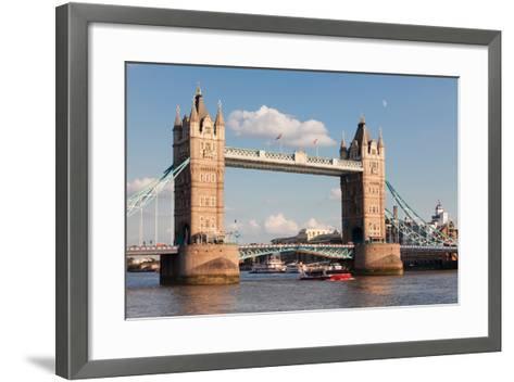 Tower Bridge, Thames River, London, England--Framed Art Print