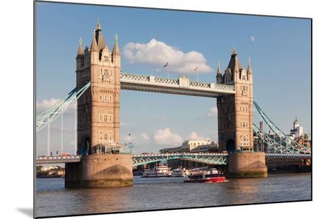Tower Bridge, Thames River, London, England--Mounted Photographic Print
