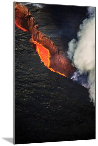 Volcano Eruption at the Holuhraun Fissure Near the Bardarbunga Volcano, Iceland--Mounted Photographic Print