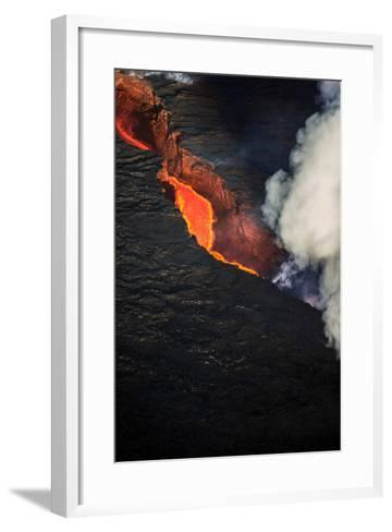 Volcano Eruption at the Holuhraun Fissure Near the Bardarbunga Volcano, Iceland--Framed Art Print