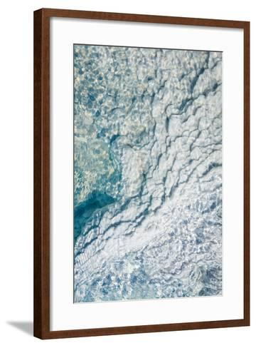 Silica Deposits in Water by the Svartsengi Geothermal Power Plant--Framed Art Print
