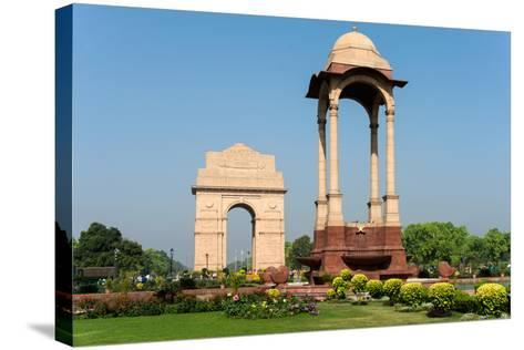 View of the India Gate, New Delhi, India--Stretched Canvas Print