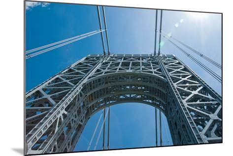 Low Angle View of a Suspension Bridge, Ben Franklin Bridge, River Delaware, Philadelphia--Mounted Photographic Print