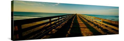 Pier in the Pacific Ocean, Cayucos Pier, Cayucos, California, Usa--Stretched Canvas Print