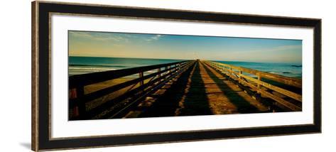 Pier in the Pacific Ocean, Cayucos Pier, Cayucos, California, Usa--Framed Art Print