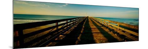 Pier in the Pacific Ocean, Cayucos Pier, Cayucos, California, Usa--Mounted Photographic Print