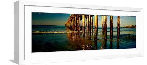 Pier in the Pacific Ocean, Cayucos Pier, Cayucos, California, Usa--Framed Art Print