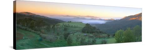 Sunrise across San Fernando Valley, California--Stretched Canvas Print