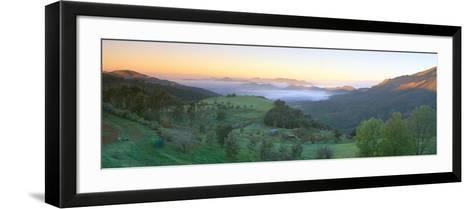 Sunrise across San Fernando Valley, California--Framed Art Print