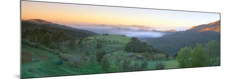 Sunrise across San Fernando Valley, California--Mounted Photographic Print