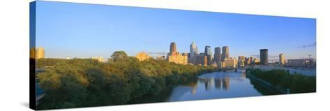 Sunset, Philadelphia, Pennsylvania--Stretched Canvas Print